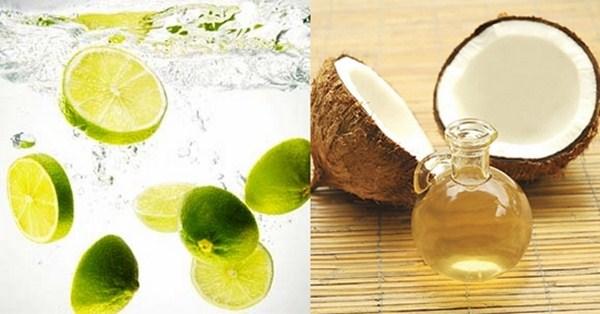 Trị mụn với dầu dừa và chanh tươi hiệu quả